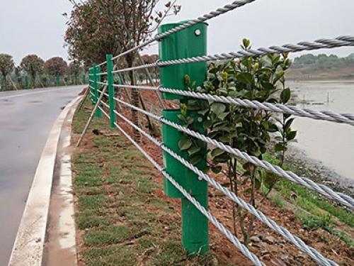 喷塑缆索护栏